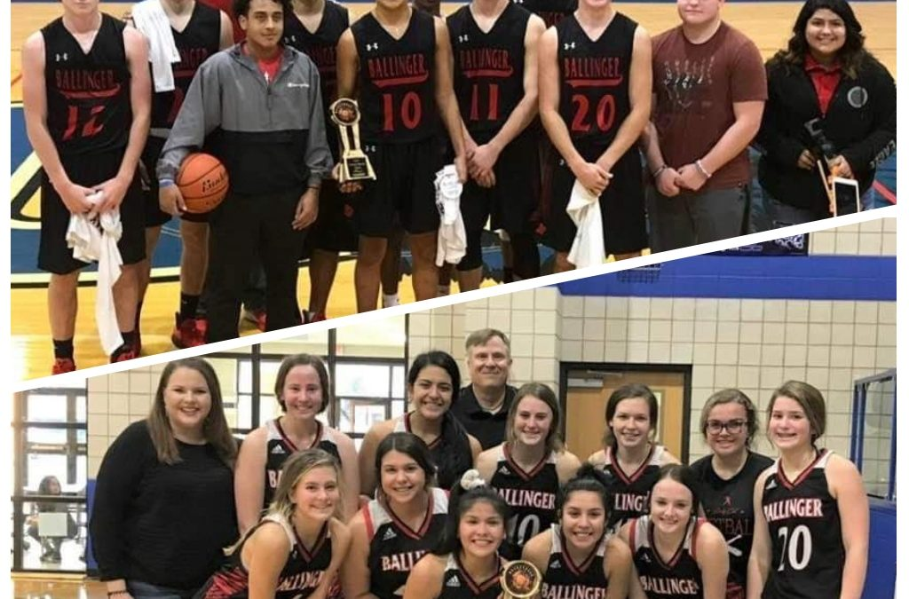 Ballinger Boys and Girls Basketball Back to Back Tournament Champs