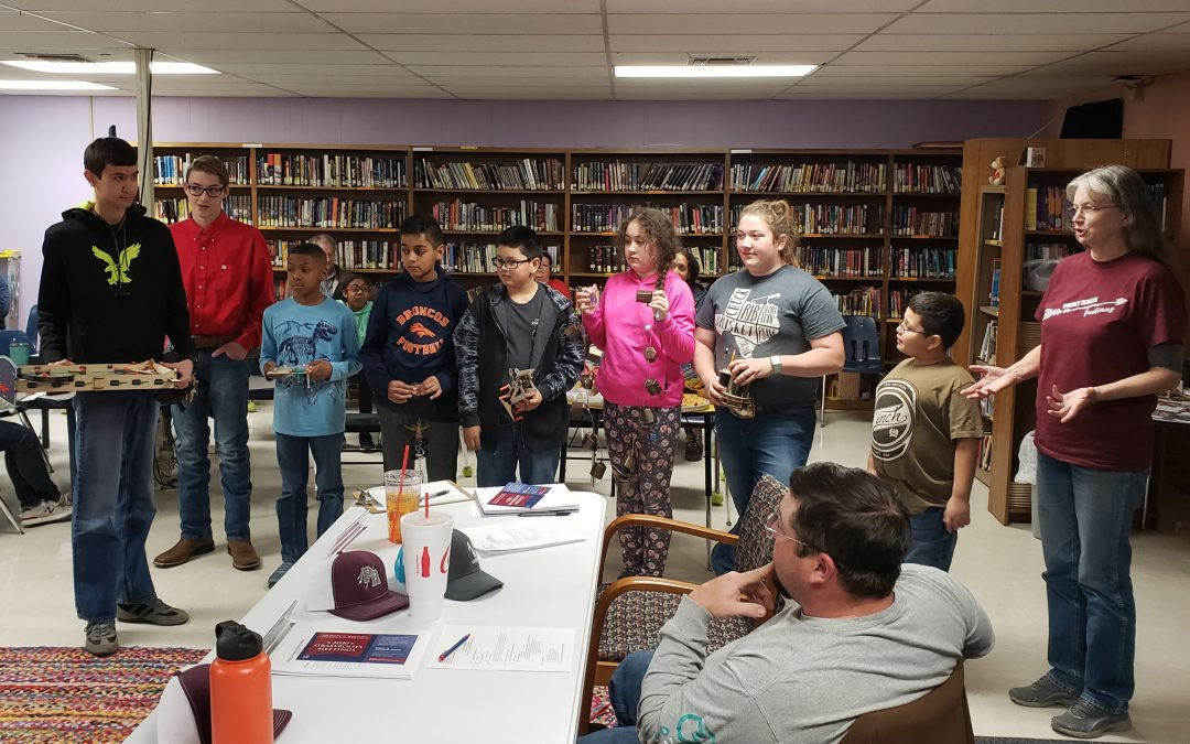 Paint Rock GT students present projects to school board